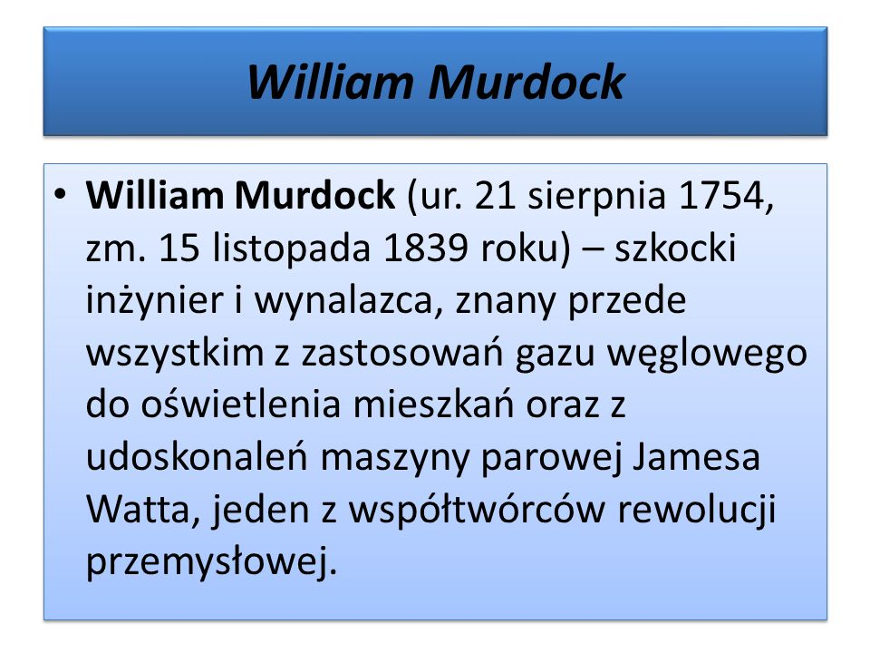 William Murdock