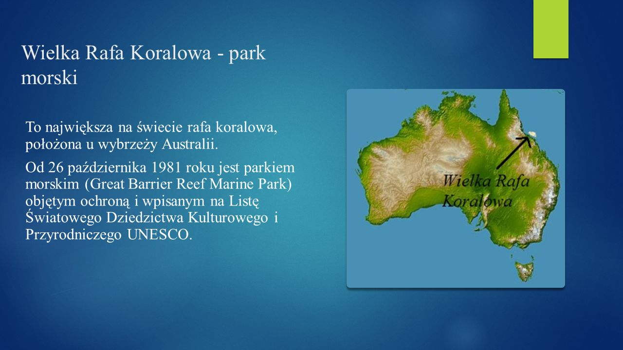 Wielka Rafa Koralowa - park morski