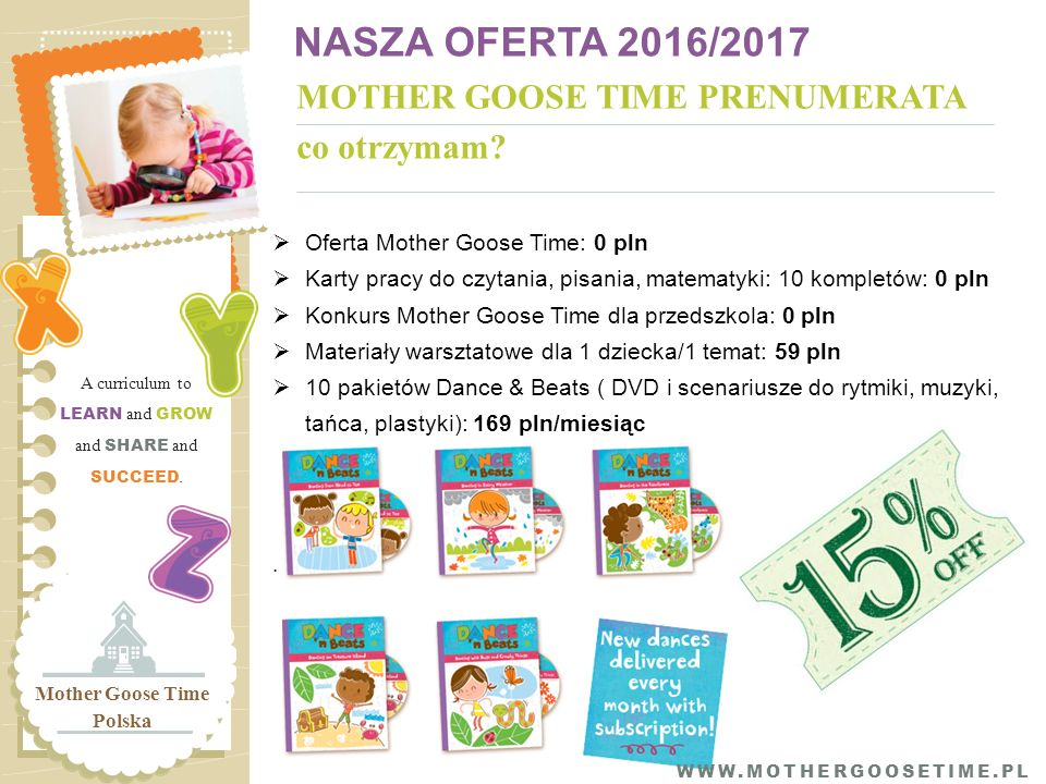MOTHER GOOSE TIME PRENUMERATA co otrzymam