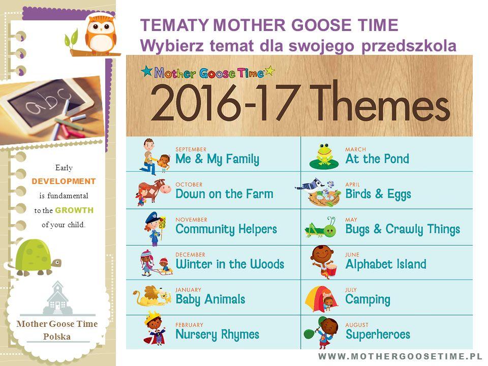 TEMATY MOTHER GOOSE TIME Wybierz temat dla swojego przedszkola