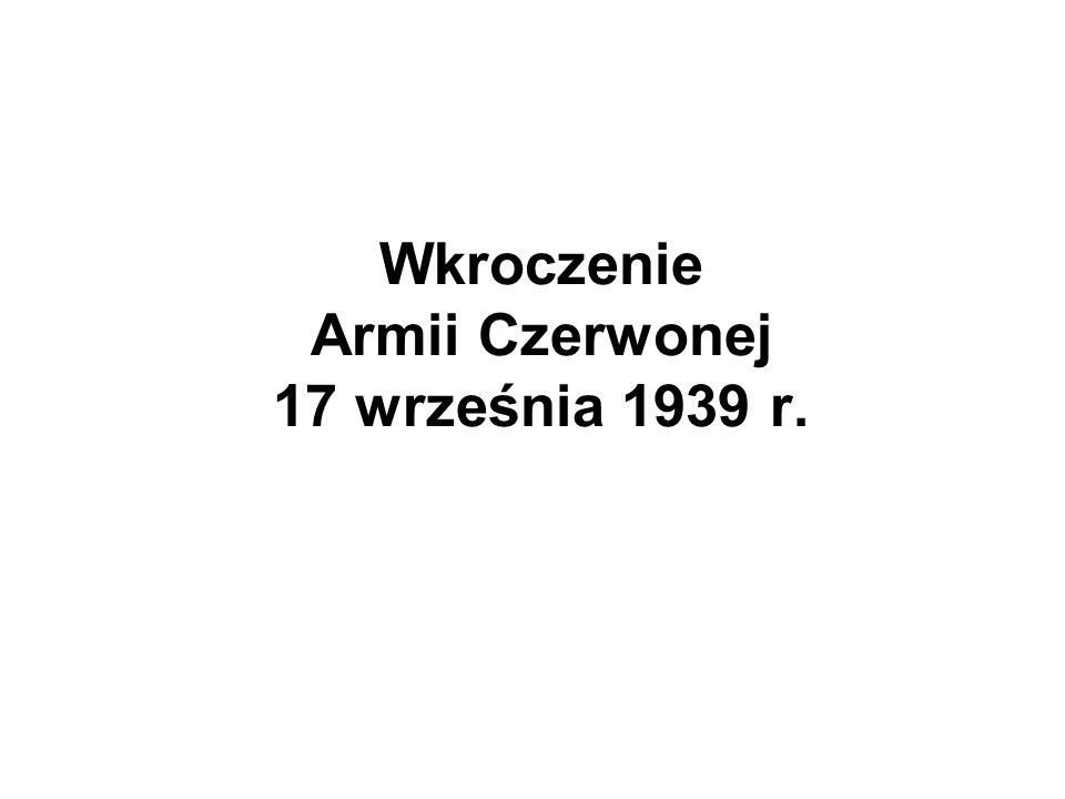 Wkroczenie Armii Czerwonej 17 września 1939 r.