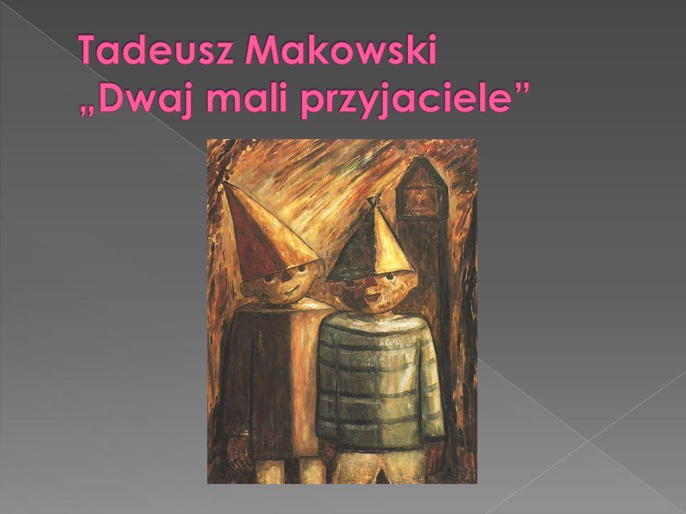 """Tadeusz Makowski """"Dwaj mali przyjaciele"""