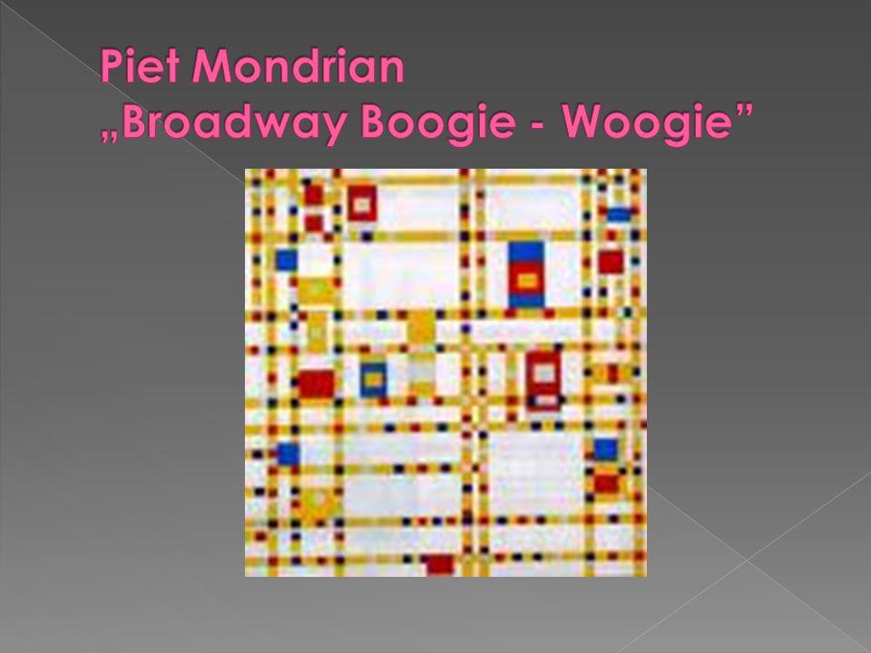 """Piet Mondrian """"Broadway Boogie - Woogie"""