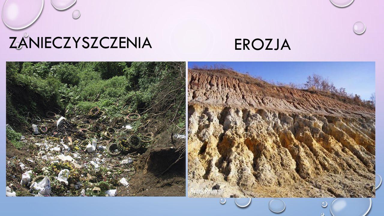 zanieczyszczenia EROZJA