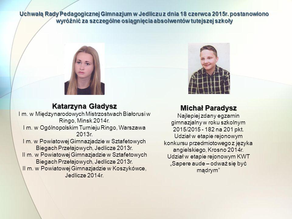 Katarzyna Gładysz Michał Paradysz