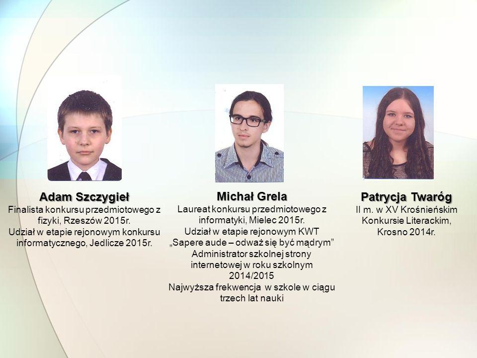 Adam Szczygieł Michał Grela Patrycja Twaróg