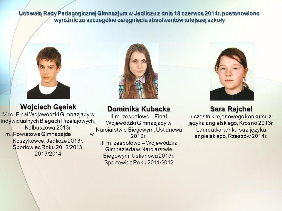 Wojciech Gęsiak Dominika Kubacka Sara Rajchel