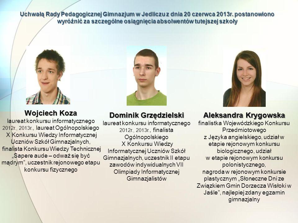 Wojciech Koza Dominik Grzędzielski Aleksandra Krygowska