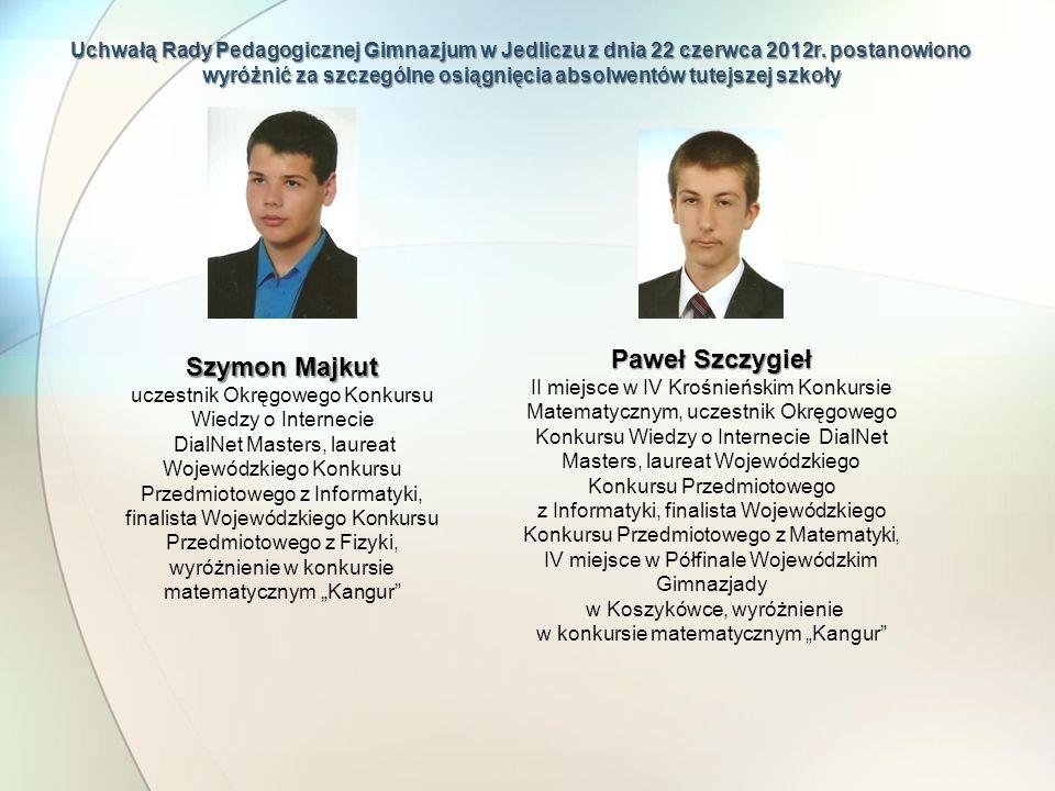 Paweł Szczygieł Szymon Majkut