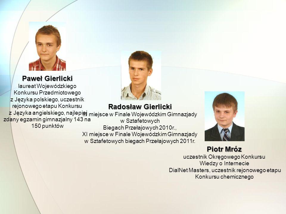 Paweł Gierlicki Radosław Gierlicki Piotr Mróz