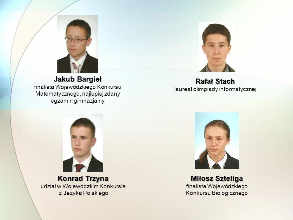Jakub Bargieł Rafał Stach Konrad Trzyna Miłosz Szteliga