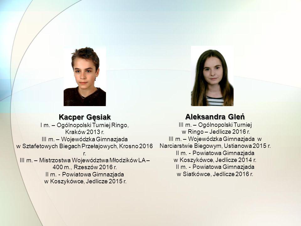 Kacper Gęsiak Aleksandra Gleń