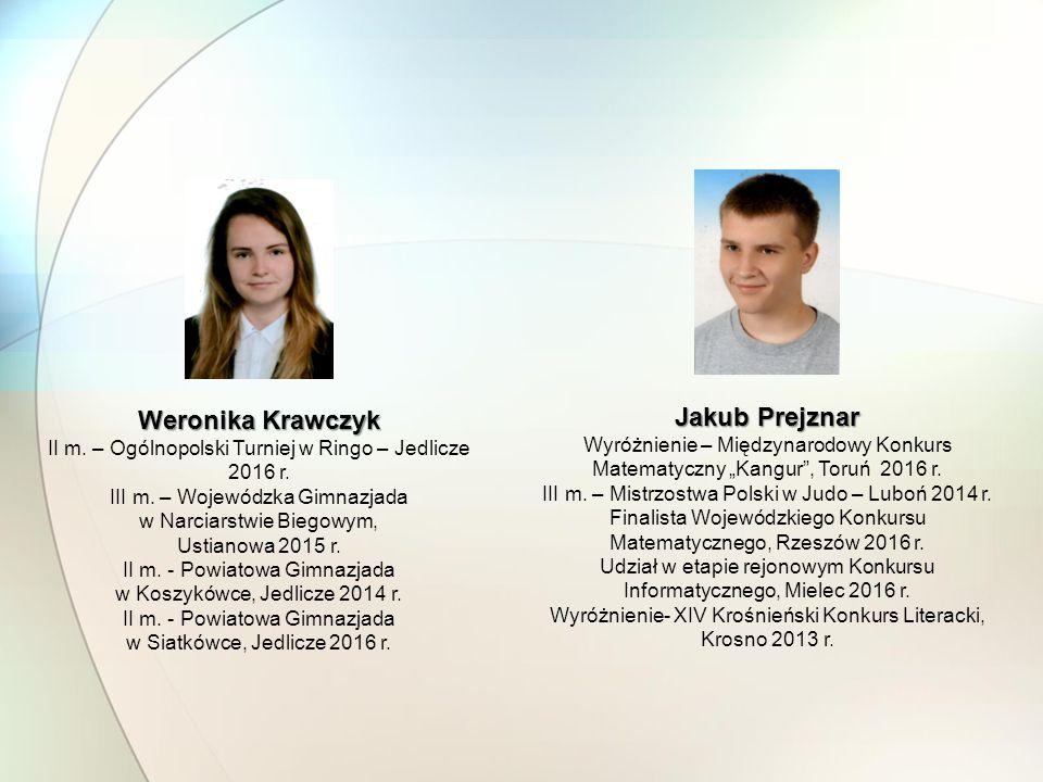 Weronika Krawczyk Jakub Prejznar