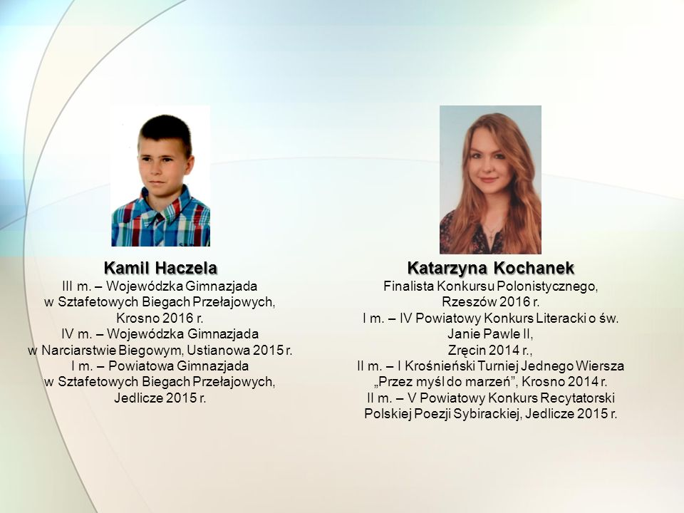 Kamil Haczela Katarzyna Kochanek