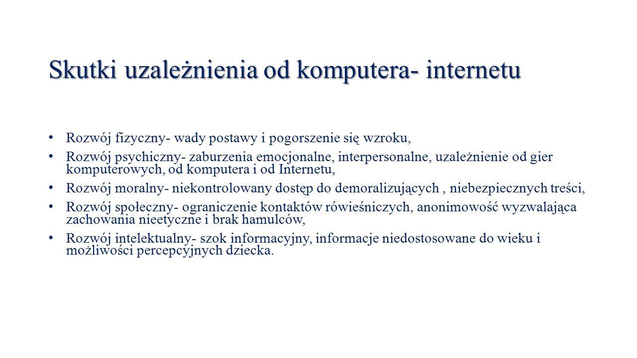 Skutki uzależnienia od komputera- internetu
