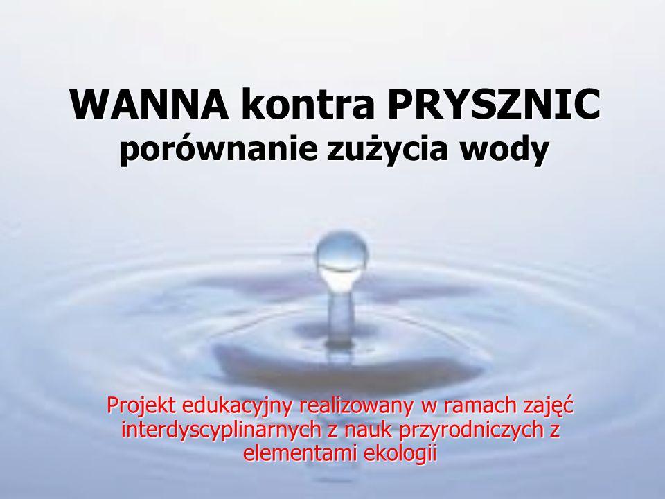WANNA kontra PRYSZNIC porównanie zużycia wody