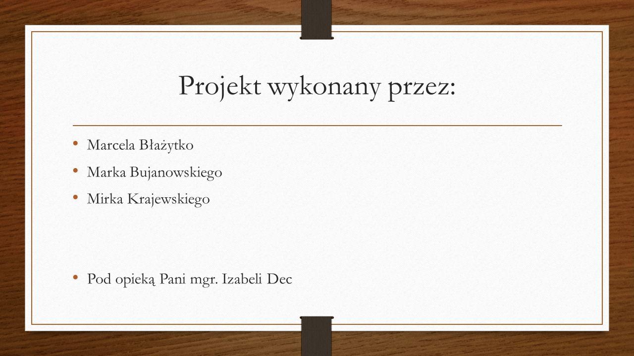 Projekt wykonany przez: