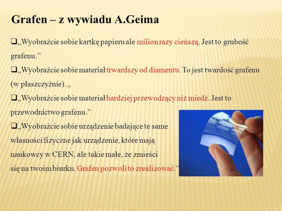 Grafen – z wywiadu A.Geima