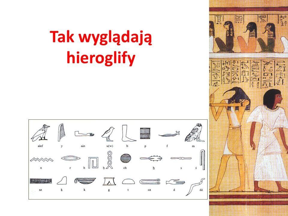 Tak wyglądają hieroglify