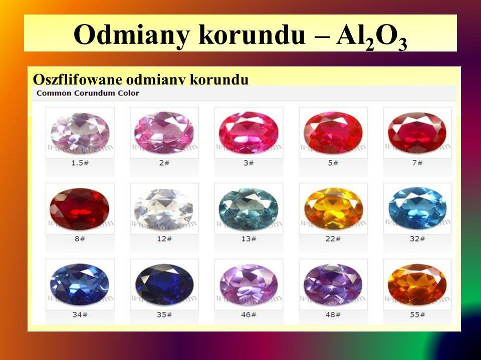Odmiany korundu – Al2O3 Oszflifowane odmiany korundu