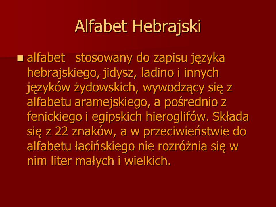 Alfabet Hebrajski