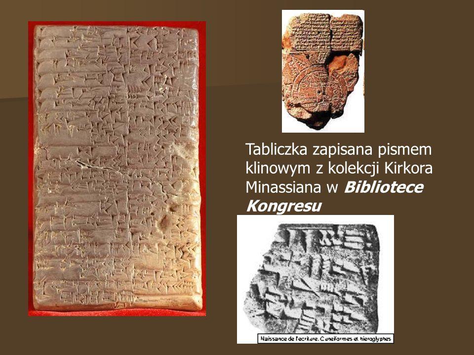 Tabliczka zapisana pismem klinowym z kolekcji Kirkora Minassiana w Bibliotece Kongresu