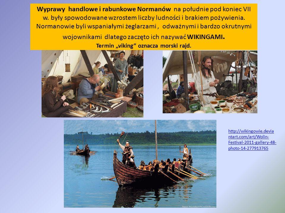 Wyprawy handlowe i rabunkowe Normanów na południe pod koniec VII w