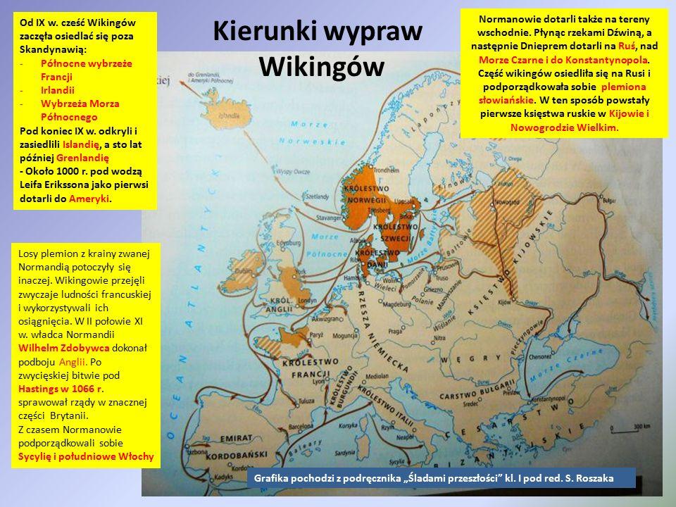 Kierunki wypraw Wikingów