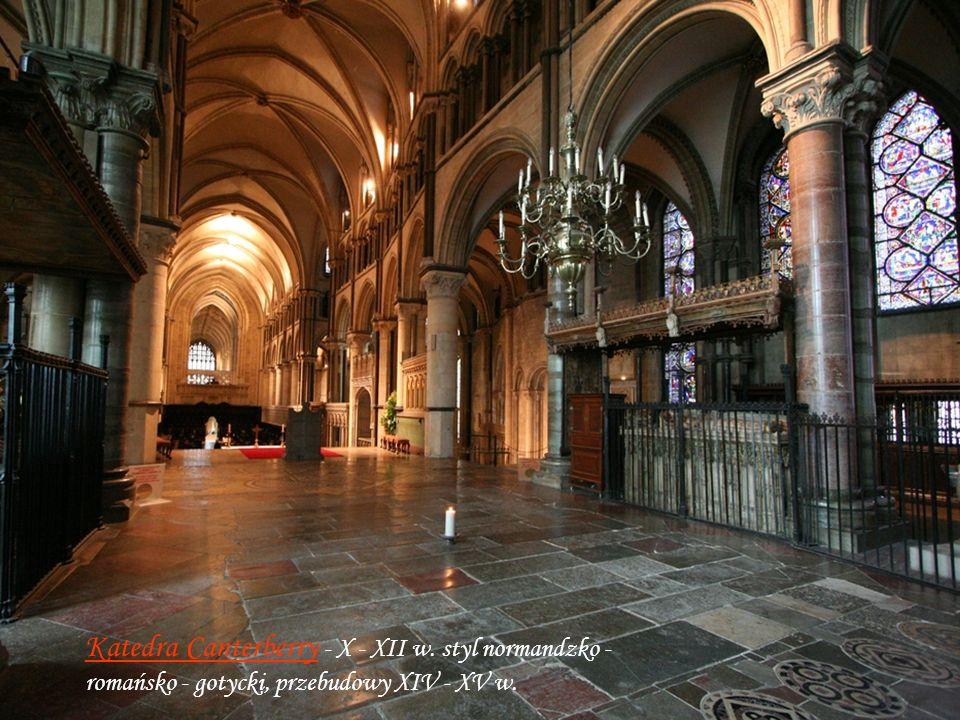 Canterburry X – XII w Katedra Canterberry - X - XII w.