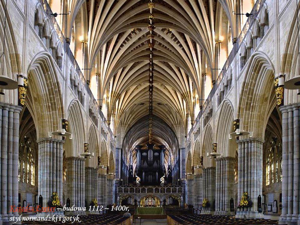 Katedra Exeter – budowa 1112 – 1400r, styl normandzki i gotyk
