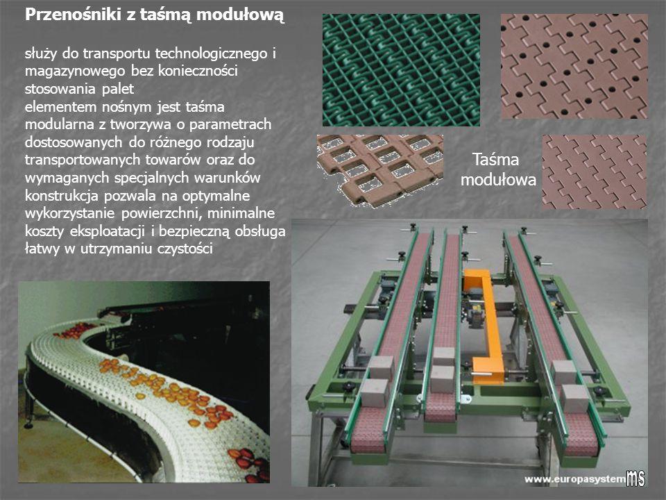 Przenośniki z taśmą modułową