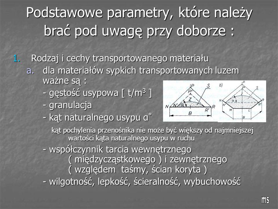 Podstawowe parametry, które należy brać pod uwagę przy doborze :