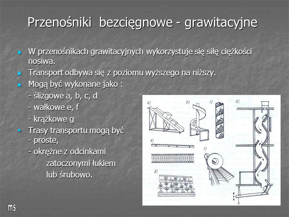 Przenośniki bezcięgnowe - grawitacyjne