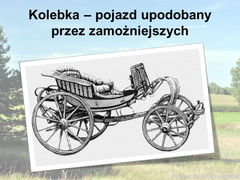 Kolebka – pojazd upodobany przez zamożniejszych