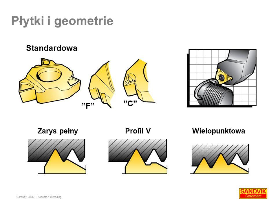 Płytki i geometrie Standardowa C F Zarys pełny Profil V
