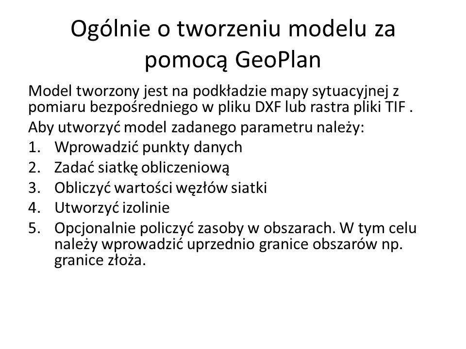 Ogólnie o tworzeniu modelu za pomocą GeoPlan