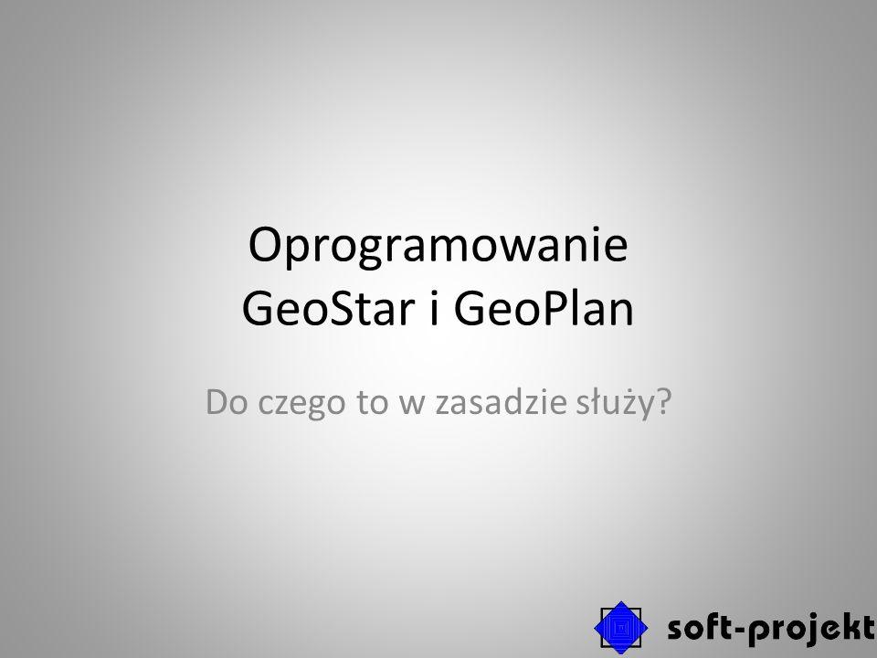 Oprogramowanie GeoStar i GeoPlan