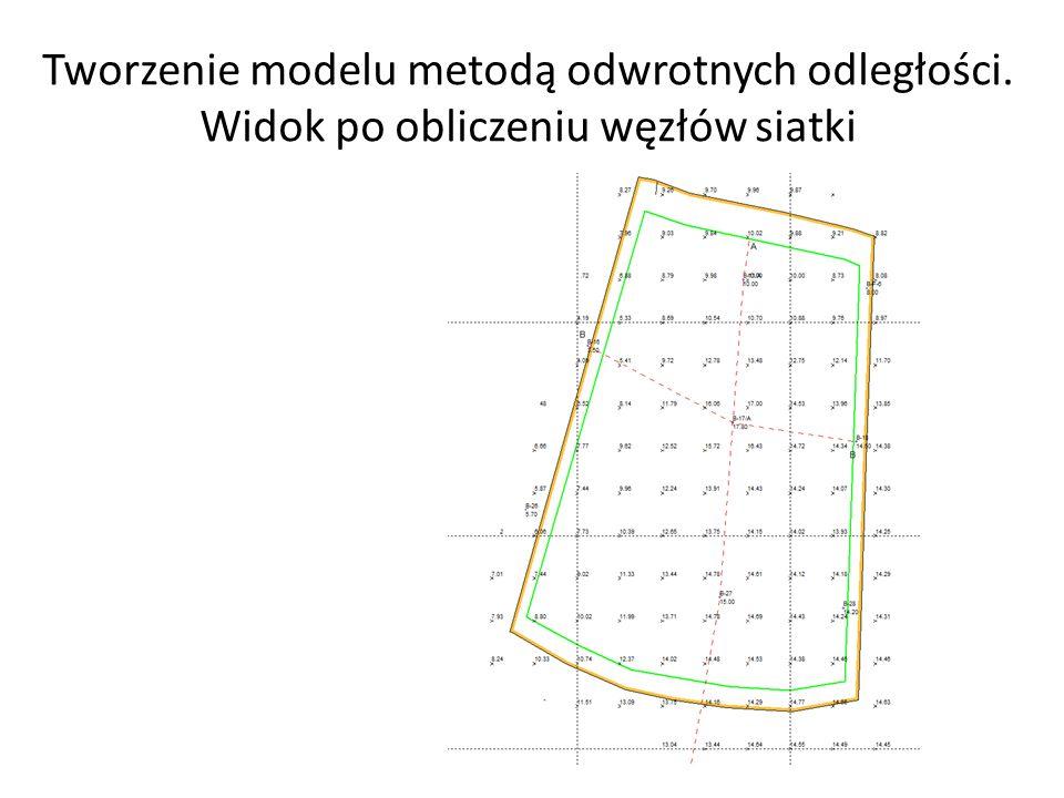 Tworzenie modelu metodą odwrotnych odległości
