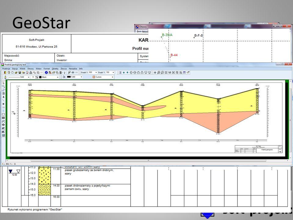 GeoStar Baza danych otworów i generowanie dokumentów