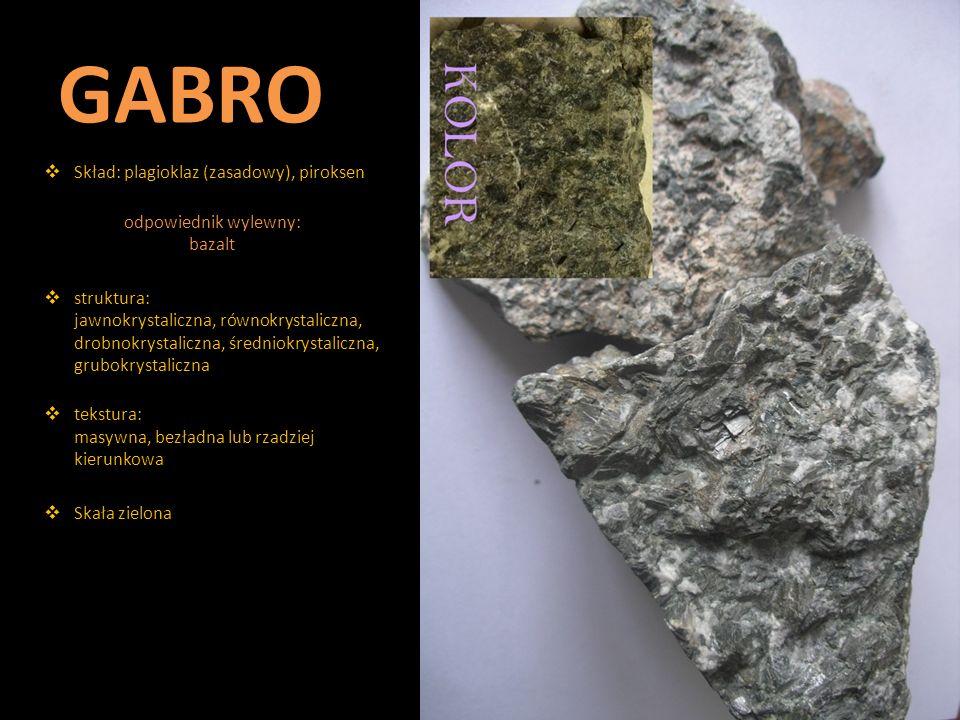 odpowiednik wylewny: bazalt
