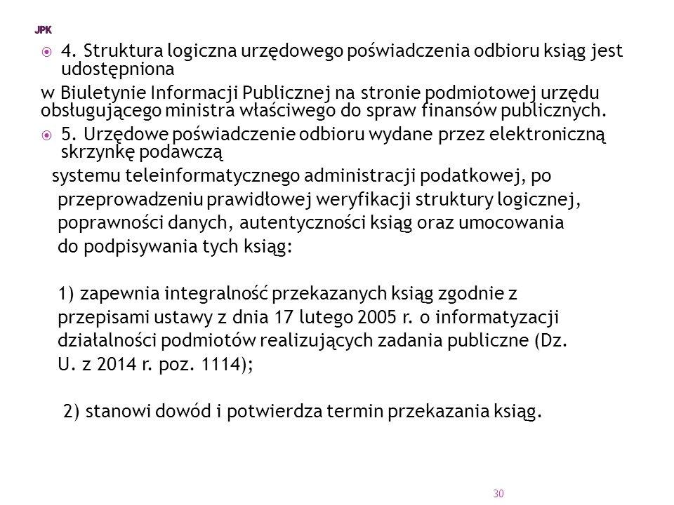 systemu teleinformatycznego administracji podatkowej, po