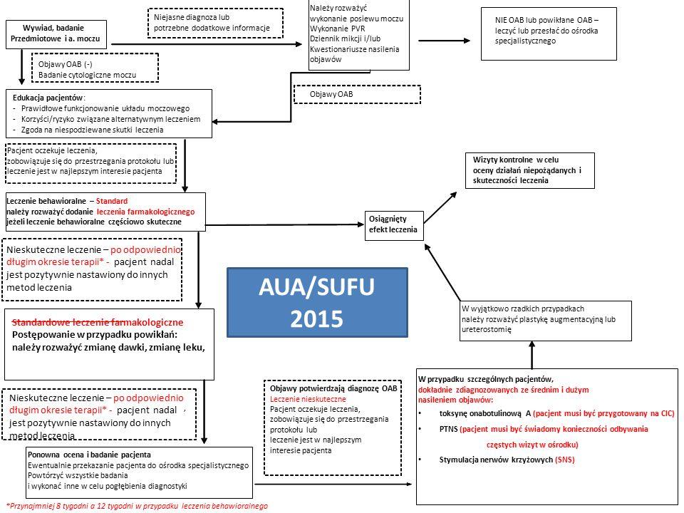 AUA/SUFU 2015 Nieskuteczne leczenie – po odpowiednio