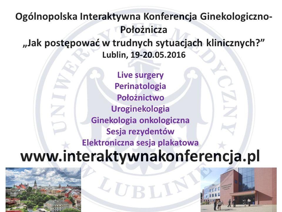 Ogólnopolska Interaktywna Konferencja Ginekologiczno-Położnicza