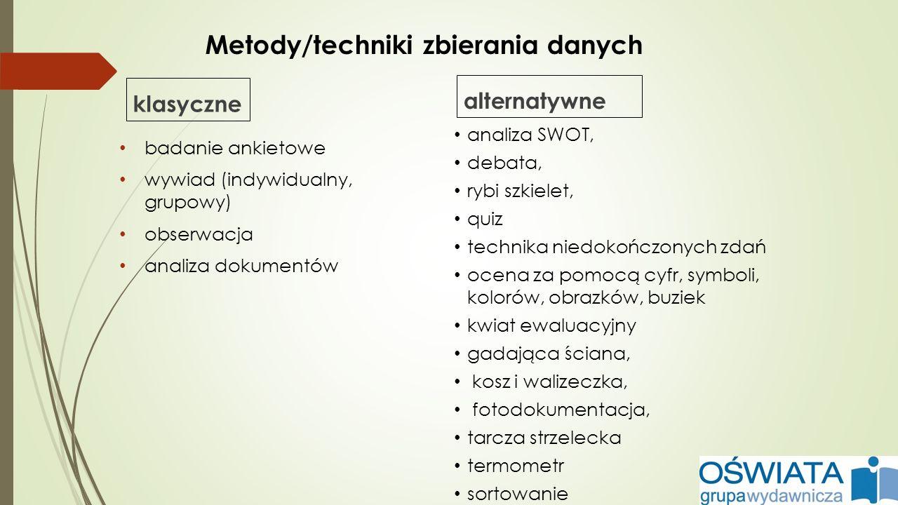 Metody/techniki zbierania danych