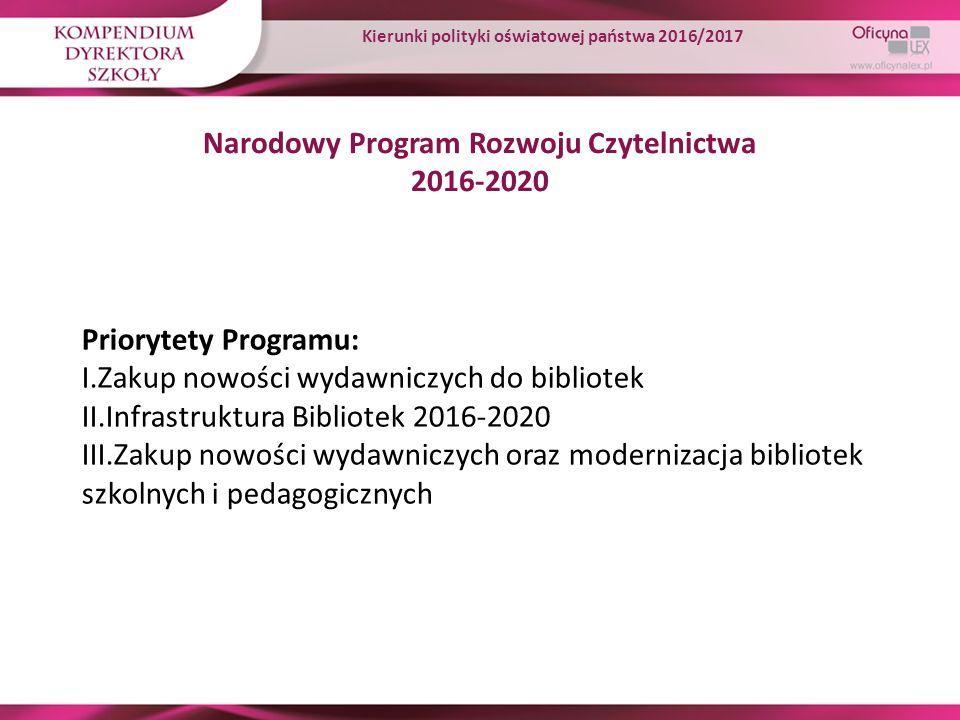Narodowy Program Rozwoju Czytelnictwa 2016-2020