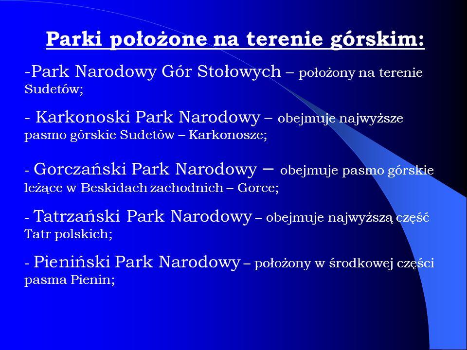 Parki położone na terenie górskim: