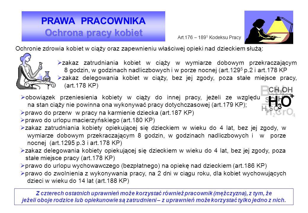 PRAWA PRACOWNIKA Ochrona pracy kobiet
