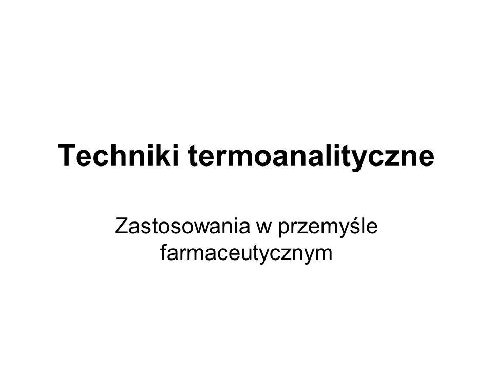 Techniki termoanalityczne