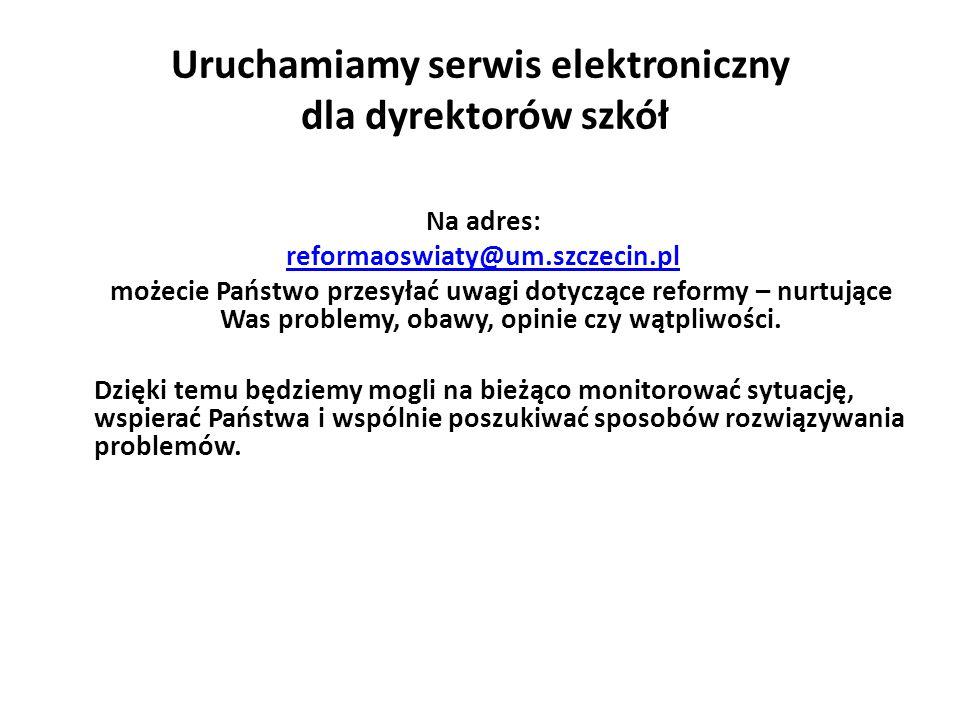 Uruchamiamy serwis elektroniczny dla dyrektorów szkół