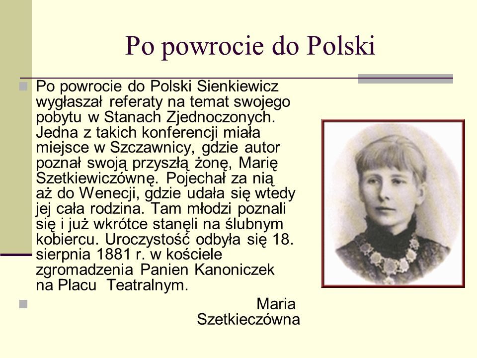 Po powrocie do Polski